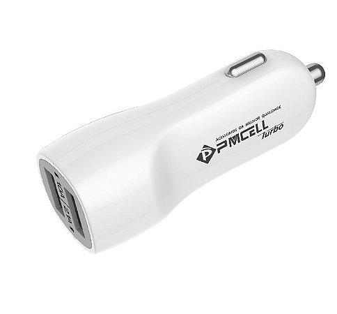 Carregador Veicular Turbo Mega Rápido 3.1A 2 Saídas USB - Pmcell 741