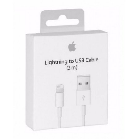 Cabo USB Apple Lightning 2 metros Iphone 5, 6, 7, 8 e Iphone X - MD819ZM/A