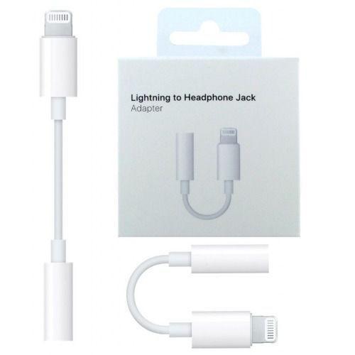 Adaptador de áudio P2 Lightning 3,5 mm para Fone de Ouvido Apple iPhone 7, 8, X, XR, XS e XS MAX - J-002