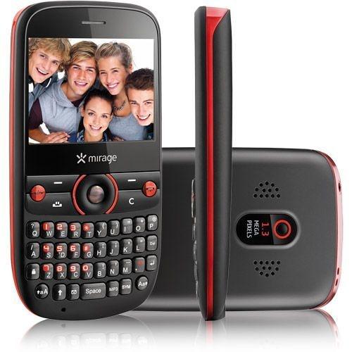 Celular Multilaser Mirage Star P3111 Desbloqueado, Dual Chip, Teclado QWERTY, Câmera de 1.3MP, Rádio FM, MP3, Bluetooth e Fone de ouvido