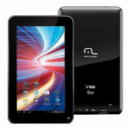 "Tablet Multilaser Vibe NB036 Tela 7 Pol"", 4GB, Entrada Mini USB, Slot para Cartão, Wi-Fi Suporte à Modem 3G e Android 4.0"
