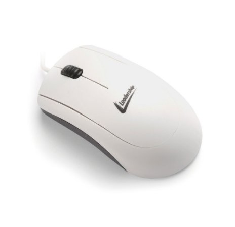 Mouse Leadership Óptico PS/2 Branco 4580