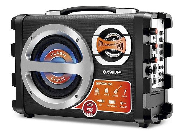 Caixa Amplificada Mondial Multi Connect Thunder 2 MCO-02 Entrada USB, Micro SD, Auxiliar e Rádio FM - 40 W