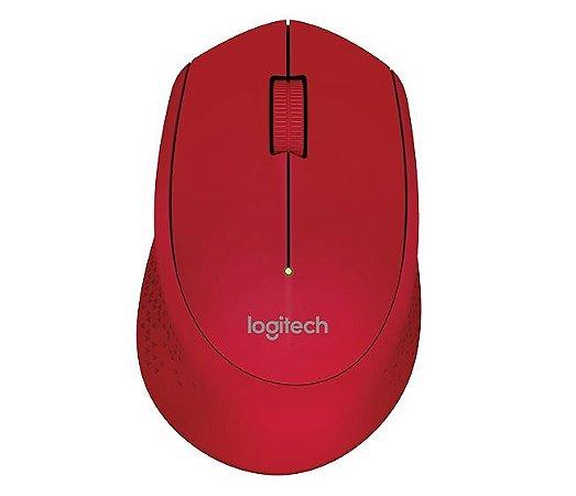 Mouse Sem Fio Wireless M280 Nano Vermelho Logitech
