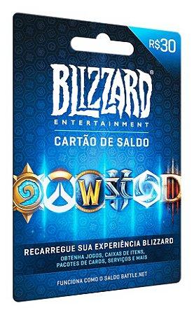 Cartão Gift Card Blizzard R$30