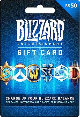 Cartão Gift Card Blizzard R$50