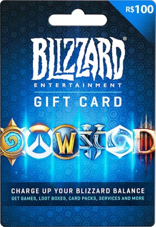 Cartão Gift Card Blizzard R$100