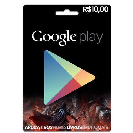 Cartão Gift Card Google Play  R$10
