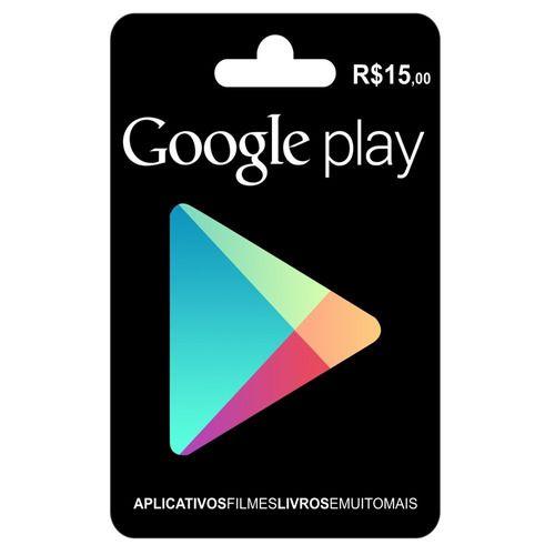 Cartão Gift Card Google Play  R$15