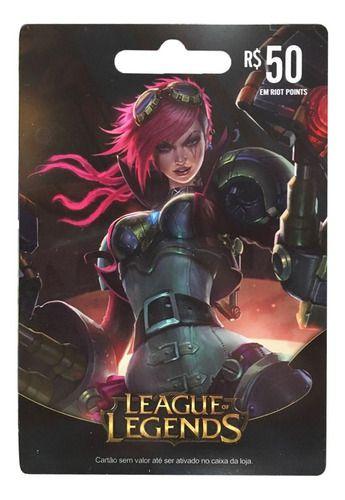Cartão Gift Card League Of Legends $50