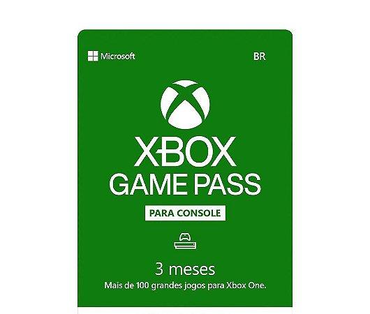 Cartão Gift Card Xbox Game Pass 3 Meses $89,99