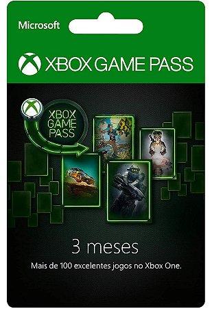 Cartão Gift Card Xbox Game Pass PC 3 Meses $89,99