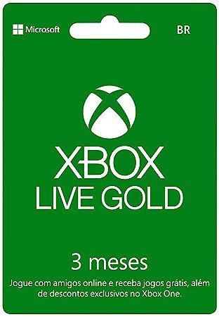 Cartão Gift Card Xbox Live $85,99