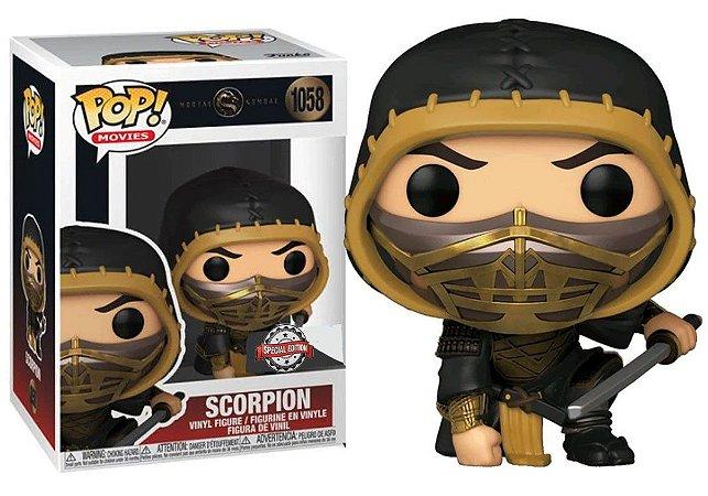 Boneco Funko Pop Scorpion #1058 - Mortal Kombat