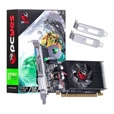 Placa De Vídeo GT710 2GB DDR3 PCI EXPRESS 2.0 - Pcyes