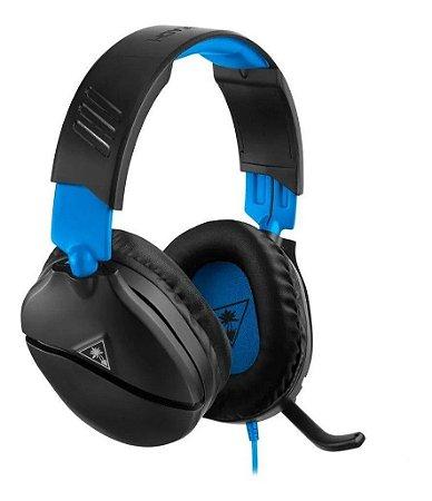 Headset Gamer Recon 70 Preto e Azul - Turtle Beach