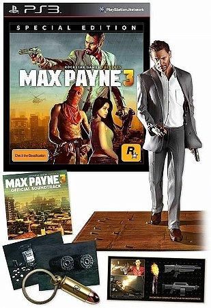 Jogo Max Payne 3: Edição de Colecionador - PS3
