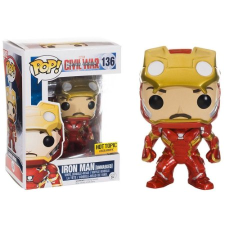 Boneco Funko Pop Civil War #136 - Iron Man