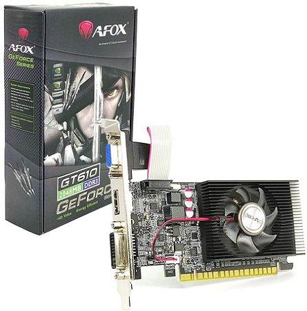 Placa de Vídeo AFOX GeForce GT610 2GB DDR3 64 Bits