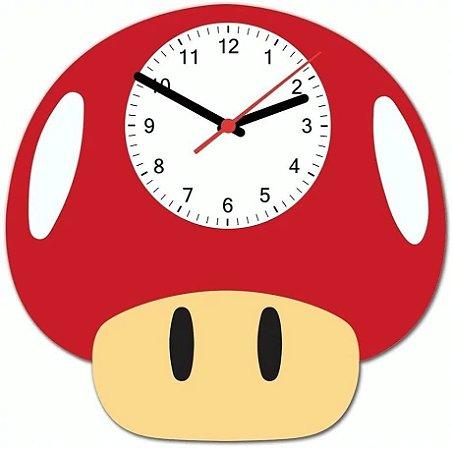 Relógio Cogumelo Super Mário - Presente Criativo Geek