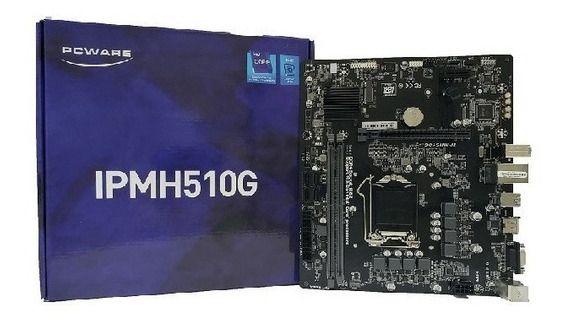 Placa Mãe PCWare IPMH510G Intel DDR 4  Socket 1200