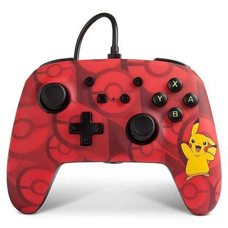 Controle Switch Pokémon Vermelho - Switch