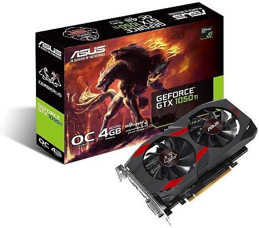 Placa de Vídeo VGA Asus NVIDIA GeForce GTX 1050 Ti 4GB GDDR5