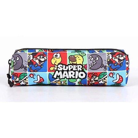 Estojo 1 Divisoria Soft Super Mario Retro Dmw