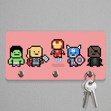 Happy Nerd Porta-Chaves Pixelvengers