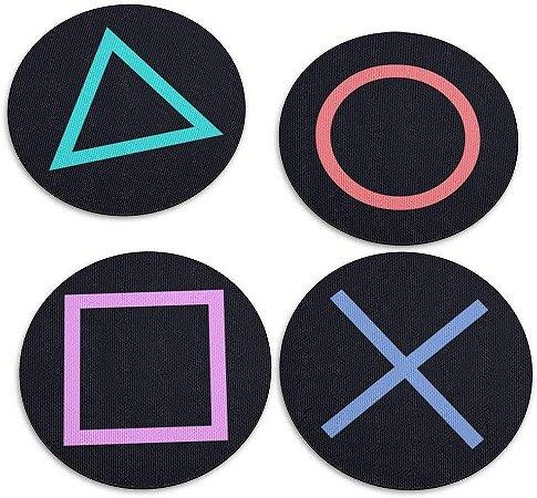 Jogo de Porta Copos Botões de Controle PS