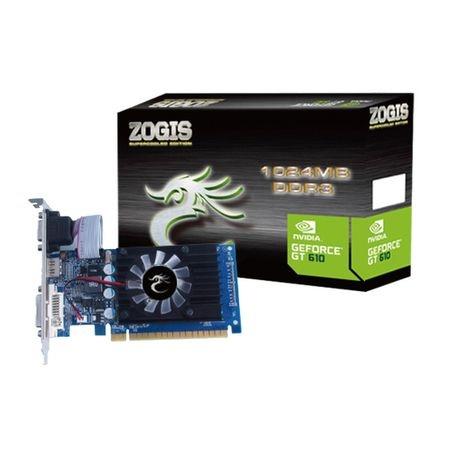 Placa de Vídeo Nvidia Zogis 1024MB GT610 64Bits DDR3