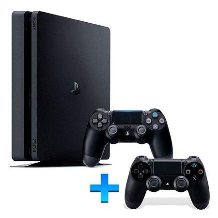 Console Playstation 4 Slim 500GB (Modelo 2015A) + Controle Adicional