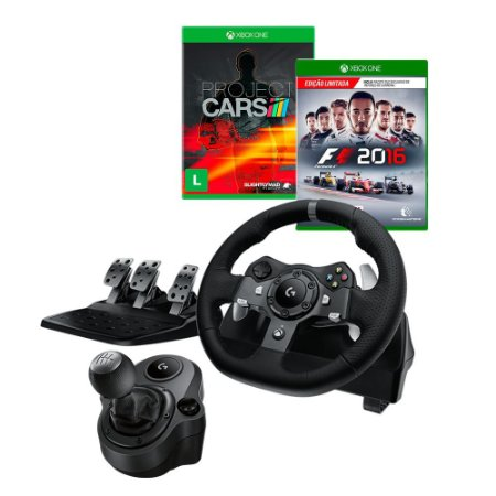 Volante Logitech G920 + Marcha + Project Cars Xbox One + F1 2016 Xbox One