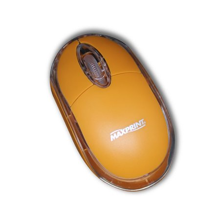 Mouse Colors Laranja USB 6012015 - Maxprint