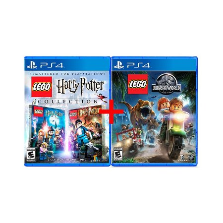 Jogos Lego Jurassic World + Lego Harry Potter Collection - PS4