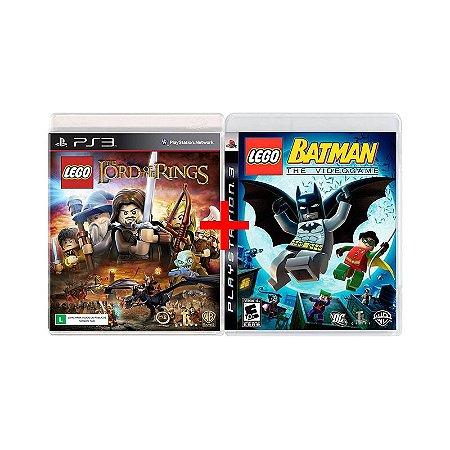 Jogos Lego Batman: The Videogame + Lego O Senhor dos Aneis - PS3