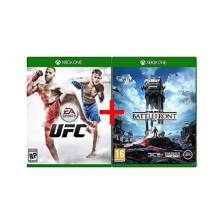 Jogos UFC + Star Wars: Battlefront - Xbox One