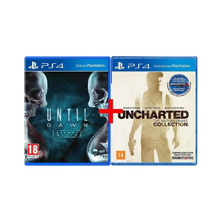 Jogos Until Dawn + Uncharted: The Nathan Drake Collection - PS4