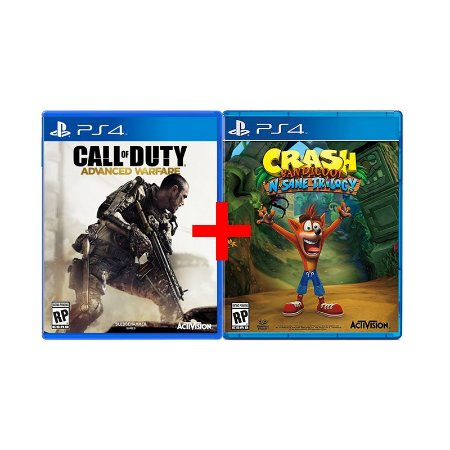 Jogos Call of Duty: Advanced Warfare + Crash Bandicoot 'Nsane Trilogy - PS4