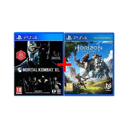 Jogos Horizon: Zero Dawn + Mortal Kombat XL - PS4