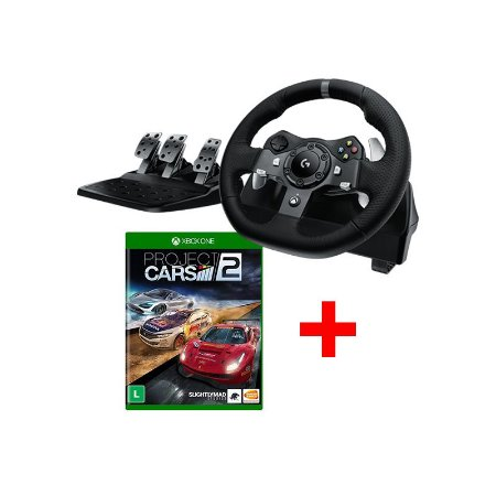 Volante Logitech G920 + Project Cars 2 - Xbox One