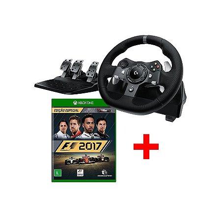Volante Logitech G920 + F1 2017 - Xbox One