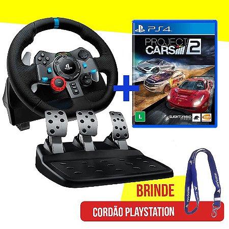 Volante Logitech Driving Force G29 - PS4, PS3 e PC + Jogo Project Cars 2 - PS4