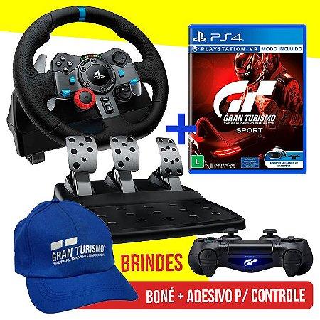 Volante Logitech Driving Force G29 PS4, PS3 E PC + Jogo Gran Turismo Sport - PS4 + Brindes