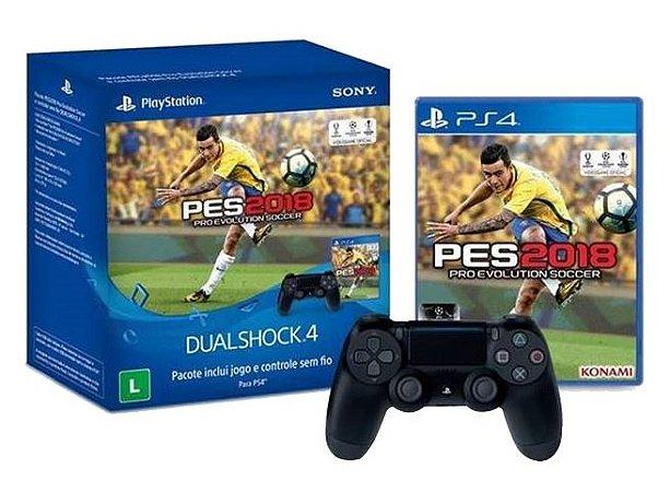 Kit Controle Dualshock PS4 + PES 18