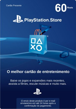 Cartão PSN Brasil R$60 (Cartão Presente)