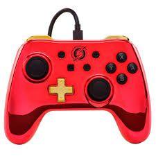 Controle Switch Metroid Powera - Vermelho