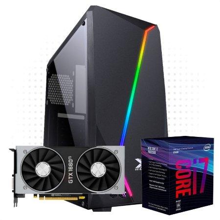 PC Gamer Power 1 - GTX 1660 Super 6GB DDR 6  - I7 9700F - 8 GB DDR 4 - HD 1TB - SSD 128GB