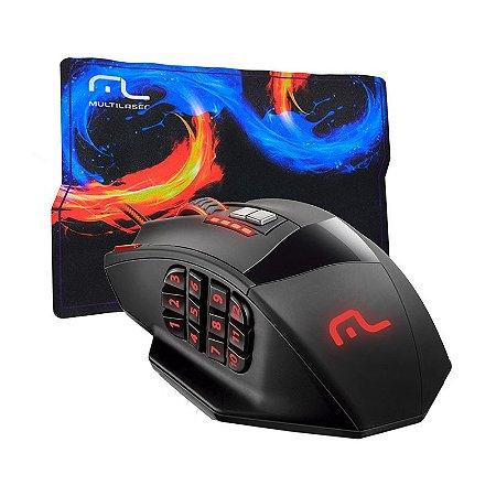 Mouse Gamer M0206 4000dpi + Mousepad - Multilaser