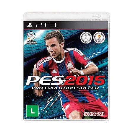 Jogo Pro Evolution Soccer 2015 (PES 2015) - PS3